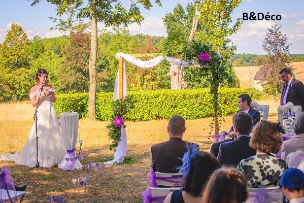 Arche de ceremonie fleurie