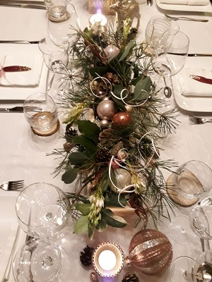 Centre de table reveillon de noel 2019
