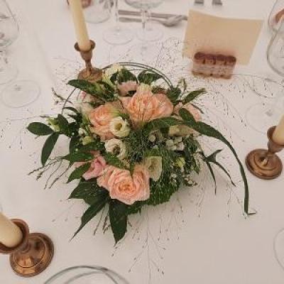 Centre de table romantique et champetre