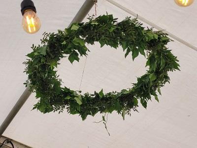 Cercle vegetalise mariage champetre 2021