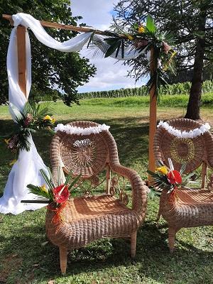 Ceremonie laique theme polynesie aout 2021