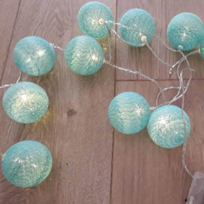 Guirlande boules turquoise