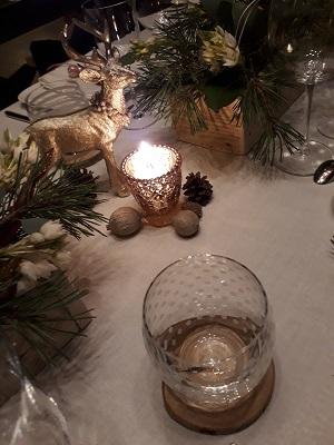 Noel 2019 rose poudre et dore
