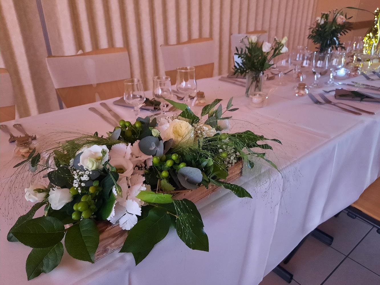 Table d'honneur et sa composition romantique